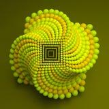 composition en sphères du résumé 3d Style futuriste de technologie illustration du vecteur 3d Photo stock