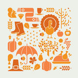 Composition en thanksgiving Photos stock