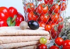 composition en tomates de chery Photographie stock