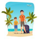 Composition en vacances d'été illustration de vecteur