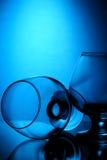 Composition en verre de cognac Image stock
