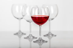 Composition en verre de vin Photographie stock libre de droits