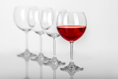 Composition en verre de vin Photos libres de droits