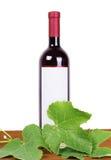 Composition en vin : vigne et bouteille de vin Image libre de droits