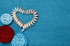 Composition et espace en bois pour le texte Thème romantique d'amour sur le je Photo libre de droits