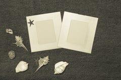 Composition et espace en mer pour le texte Thème romantique d'amour sur des jeans Photo libre de droits