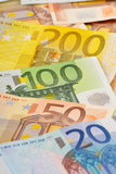 Composition with Euro banknotes Stock Photography