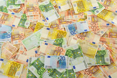 Composition with Euro banknotes Royalty Free Stock Image