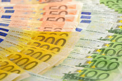 Composition with Euro banknotes Stock Images