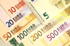 Composition of euro banknotes Stock Image