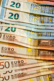 A composition of euro banknotes Royalty Free Stock Photography