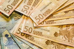 A composition of euro banknotes Stock Image