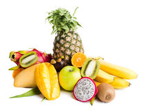 Composition of exotic fruits Royalty Free Stock Photography