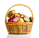 Composition of exotic fruits Royalty Free Stock Photos