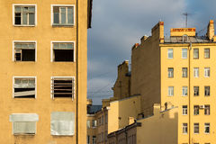 Composition of facades of apartment buildings Royalty Free Stock Image