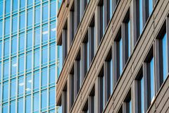 Facades of two office skyscrapers, Atlanta, USA Royalty Free Stock Photography