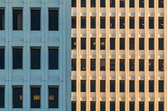 Facades of two office skyscrapers, Atlanta, USA Stock Images