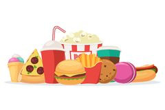 Composition of fast food Royalty Free Stock Images