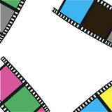 The composition of the film . Vector illustration. The composition of the film on a white background. Vector illustration Stock Photo