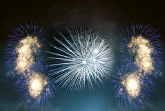 Composition of fireworks Royalty Free Stock Images