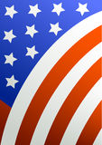 Composition with a flag of the USA Royalty Free Stock Photography
