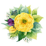 Composition florale illustration stock