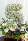 Composition florale avec le numéro 5 Photos libres de droits