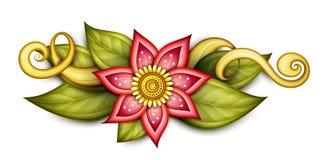 Composition florale colorée beau par résumé en vecteur illustration stock