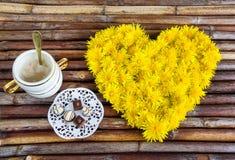 Composition florale des pissenlits Photographie stock