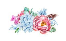 Composition florale en aquarelle illustration de vecteur