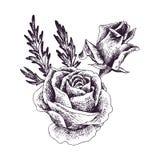 Composition florale en vecteur de vintage illustration stock