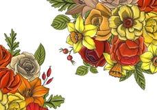 Composition florale en vecteur de vintage Image stock