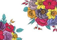 Composition florale en vecteur de vintage Photo libre de droits