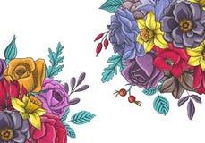 Composition florale en vecteur de vintage Photo stock