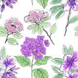 Composition florale Fleurs et lames tropicales Image stock