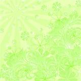 Composition florale verte de vecteur Image stock