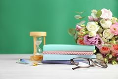 Composition with flowers for Teacher`s day