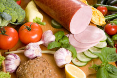 Composition of food stock image