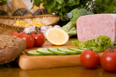 Composition of food stock photography
