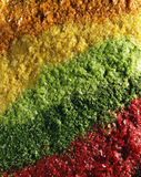 Composition of food coloring powders Royalty Free Stock Image
