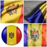 Moldova flag waving Royalty Free Stock Image