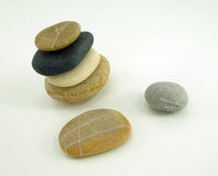 Composition with four different zen stones, others Royalty Free Stock Photo