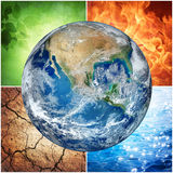 Composition of natural elements and Earth royalty free illustration