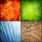 Composition of the four natural elements Stock Photo