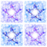 Composition of four stars. On colorful background Stock Photography