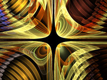 Virtual Fractal Grid Royalty Free Stock Images