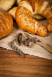 Composition of fresh bread Stock Photo