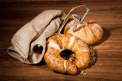 Composition of fresh bread Royalty Free Stock Image