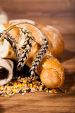Composition of fresh bread Stock Image