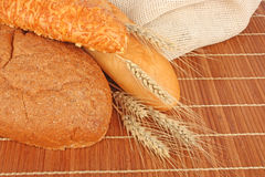 Composition of fresh bread Stock Photos